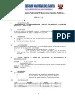Proyecto de Bienvenida a Cachimbos de Derecho y Cc.pp. 2013