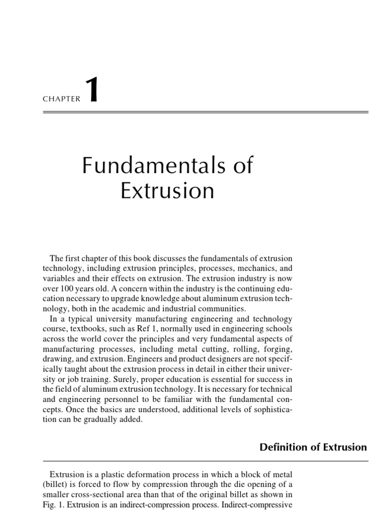 Fundamental Of Extrusion | Extrusion | Friction
