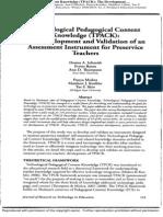 02-TPCK - Development and Validation of Assessment Instrument for Preservice Teachers