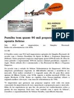 Paraíba tem quase 90 mil pequenos negócios, aponta Sebrae