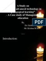 A Study on Advanced Technology in Pedagogical Learning