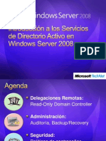 1Introduccion a Los Servicios de Directorio Activo en Windows Server 2008