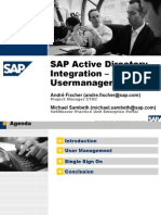 SAP AD Integration SSO User Management
