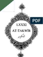 Sura Takweer - English