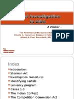 Presentation - Cartel Investigation, MRTP, CCI