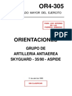 OR4-305 Grupo de Artillería Antiaérea Skyguard 35-90 Aspide