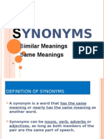 PPT 2 - Synonyms