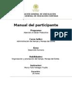 MANUAL ADMON DEL TIEMPO y Manejo del Estrés 1