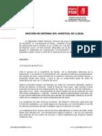 13-12-2011-Moción DEFENSA DEL HOSPITAL DE LLIRIA