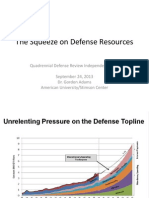 The Squeeze on Defense Resources