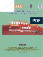 Manual for preservation of fruits and vegetables