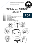 Energy and Change [Grade 7 English]