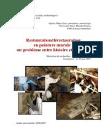 Restauration Derestauration en Peinture Murale Un Probleme Entre Histoire Et Actualite