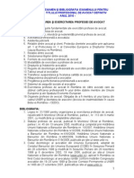 Tematica Si Bibliografia Examen Definitivat Noiembrie 2010 170910 Ok Website