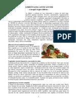Alimentatia Anticancer