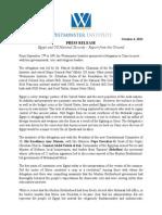 Westminster Egypt Delegation Press Release