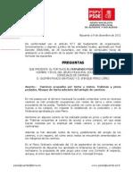 Preguntas Pleno 13-12-2011 Concejales Caminos