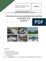 Biogazownia Klepsk - Technologia Biogazowni Rolniczej