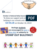 Blue Day-Stomp Out Bullying October 10