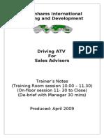 ATV 06 Sales Advisor Session
