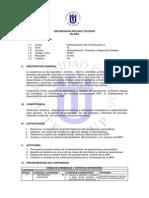 Silabo de Administración de la Producción II