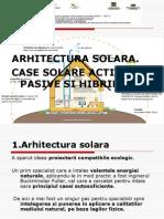Cursul Arhitectura Solara