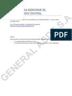 Instrucciones Renovacion Certificado Digital