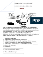 3rd STD Holiday Homework
