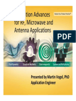 ANSYS Simulation Advances for RF Microwave Antenna Applications