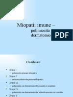 Miopatii imune - polimiozita dermatomiozita
