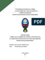 TIPIFICAR LOS CRÍMENES DE GUERRA COMO DELITOS EN EL CÓDIGO PENAL BOLIVIANO EN EL MARCO DEL DERECHO INTERNACIONAL HUMANITARIO.pdf