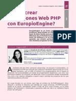 PHP - Cómo crear aplicaciones Web con Europio Engine