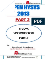 Aspen Hysys 8 WorkBook