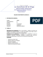 Mb02 - Silabo de Matematica Basica II