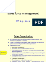 Sales Force Mgmt
