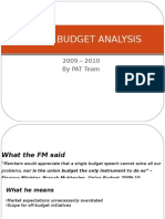 Union Budget Analysis
