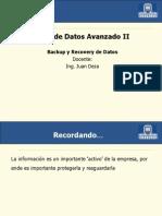 Base Datos Avanzado II - Sesion16 Backup y Recovery de Datos I