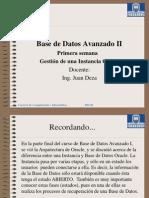 Base Datos Avanzado II - Sesion01 Gestión de Instancia