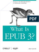 What is Epub 3 Matt Garrish
