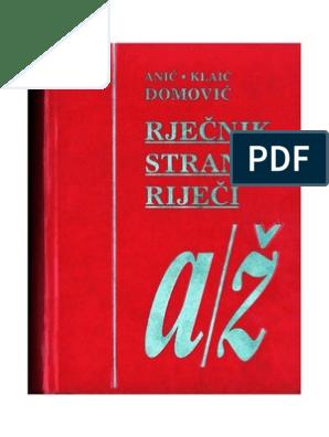 Rijecnik Stranih Rijeci Nikolaklaic