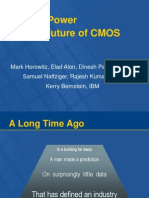 Scaling, Power and the Future of CMOS (Mark Horowitz, Et Al. Iedm 2005)