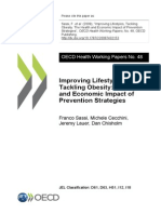 OECD WP 48. the Health and Economic Impact of Prevention Strategies