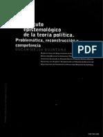 Estatuto epistemológico de la teoría política