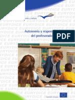 Autonomía y responsabilidades del profesorado en Europa