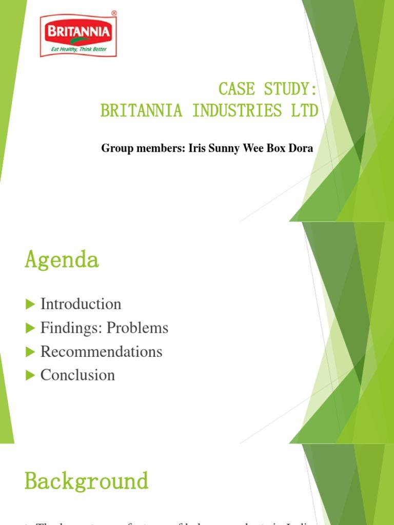 britannia supply chain management case study