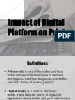 Impact of Digital Platform on Print Media