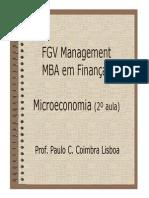 MBA Financas Microeconomia 2 Aula