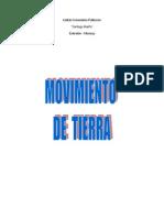Definición de movimiento de tierras