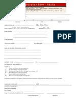 Registration Form- Adults