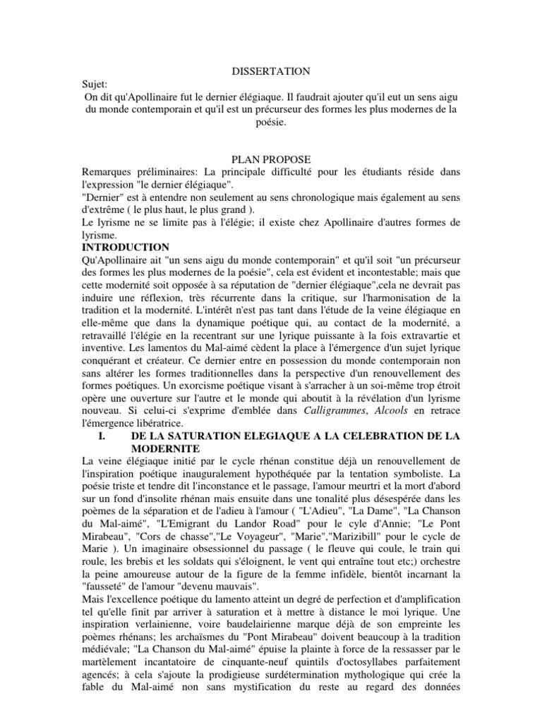 Un Exemple de Dissertation Autour de Guillaume ire ...